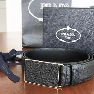 PRADA Brand New Men's Leather Belt